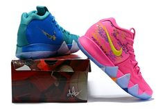 official photos a55be eb4a1 Durable Nike Zoom Kyrie 4 green Pink women s Basketball Shoes