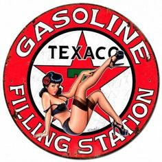 PRODUCT SPECIFICS: Texaco Gasoline Filling Station Pinup Girl from the Steve McDonald licensed collection, this Sign is hand made in the USA using heavy gauge american steel. 14 x 14 inches 24 x 24 inches 30 x 30 inches DESCRIPTION: Hand Made in Pin Up Girl Vintage, Style Vintage, Vintage Pins, Retro Pin Up, Retro Vintage, Pin Up Girls, Russ Mayer, Steve Mcdonald, Pin Up Posters