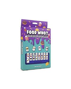 A twist on the old school Guess Who game, but this is with all different types of food. Small set, ideal for travelling or taking to the beach or on holiday. Comprises of 2 boards, and comes in a box. Game for 2 people Old School Board Games, Types Of Food, Strand, Travelling, Old Things, Box, Beach, Holiday, People