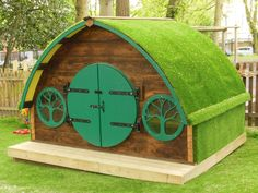 Hobbit hole with grass roof