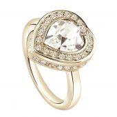 Guess Damen Ring Edelstahl gold UBR28508