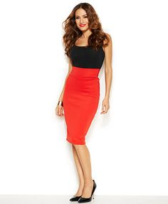 137f908ad Thalia Sodi Pull-On Scuba Pencil Skirt & Reviews - Skirts - Women - Macy's