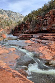 Slide Rock, Oak Creek Canyon, Sedona, Arizona by Kelly Wade