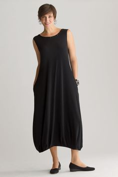 Matte Jersey Sleeveless Bubble Dress by Planet (Knit Dress) | Artful Home