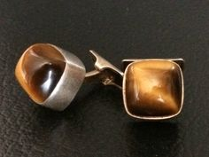 Vintage Sterling Silver with Tiger Eye Cufflinks by Elis Kauppi Finland | eBay