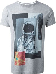 Paolo Pecora - Gray Astronaut Print T-Shirt for Men - Lyst Pant Shirt, Great T Shirts, Jean Shirts, Printed Tees, Astronaut, Cool Tees, Graphic Tees, Menswear, Mens Fashion