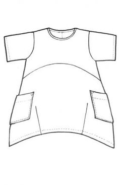 narrow the bottom by darting it [Voila Tunic UnPrinted : Blue Fish Clothing]