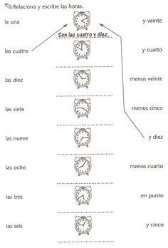 Español Lengua Extranjera: hora