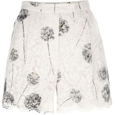 Valentino Lace Printed Shorts ($1,290) ❤ liked on Polyvore