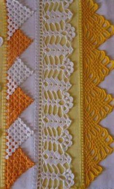 Diy Crafts - -Crochet scarf lace ganchillo Ideas for 2019 crochet Crochet Boarders, Crochet Edging Patterns, Crochet Lace Edging, Crochet Motifs, Cotton Crochet, Filet Crochet, Crochet Doilies, Easy Crochet, Crochet Stitches