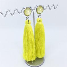 Sherbert Yellow tassel earrings - $20AUD - allure style