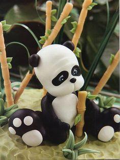 Panda making tutorial Cake Decorating Tutorials (How To's) Tortas Paso a Paso