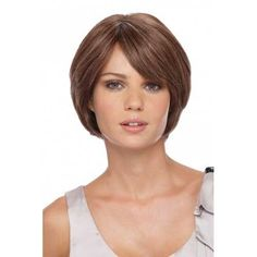 Casual Graduated Brown Bob for Fine Hair