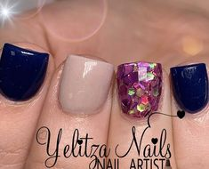 How To Do Nails, My Nails, Confetti Nails, Nail Time, Fire Nails, Cute Acrylic Nails, Simple Nails, Winter Nails, Short Nails