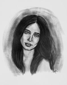 Eva Green  #drawing #art #arte #portrait #blackandwhite #artist #actress #blackandwhite #digital #charcoal #beauty #skill #dibujo