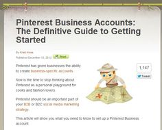 The Definitive Guide to Pinterest Business Accounts.