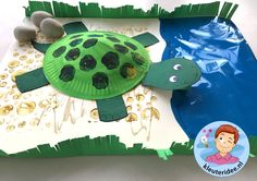 schildpad knutselen, kleuteridee, met gratis download 4 Zoo Activities, Preschool Themes, Letter T Crafts, Thema Hawaii, Projects For Kids, Crafts For Kids, Caribbean Party, Aboriginal Culture, Jungle Party