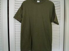 Green T-Shirt Olive Cotton Heavyweight Military Police New Medium #AlstyleActivewear #BasicTee