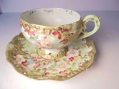Tea Cup Set, Cup And Saucer Set, Tea Cup Saucer, Tea Sets, Vintage Cups, Vintage Dishes, Vintage Tea, Antique China, Vintage China