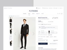 Flyrobe Product Detail page