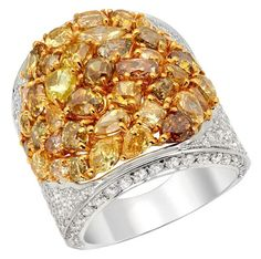 Heskia Almor Design ~ Natural Colour and White Diamond Ring