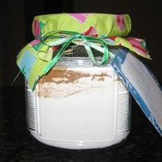 A lovely mix that can be placed in a jar to give as a gift.  A great change from cookies in a jar. Just copy the recipe onto a card and attach it to your jar to give as a gift.