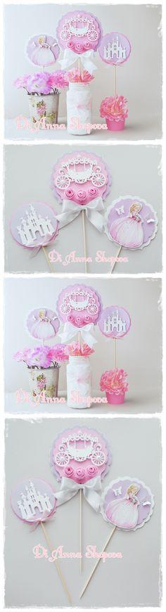 Luxury 3D Princess Birthday Party Centerpiece Decorations #princess #party #centerpiece #decor #cinderella #princessparty
