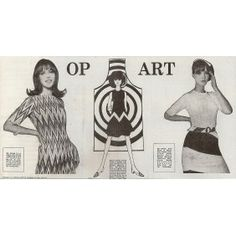 Op Art feature in The Daily Mail 9th June 1965 – Pictures:  Gordon Carter, Drawing:  May Routh