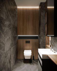 Pechersky Apartment // cgi visualization by Lizaveta Kuzmenka & Ruslan Bondarchuk. This rendering was done by Autodesk Max & Corona Renderer. Washroom Design, Bathroom Design Luxury, Modern Bathroom Design, Home Interior Design, Interior Decorating, Bedroom Modern, Contemporary Bathrooms, Modern Design, Small Toilet Design