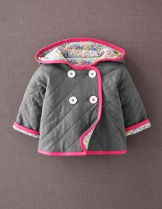 Ralph Lauren Shawl Collar Coat (Baby Girls) available at ... : baby quilted coat - Adamdwight.com