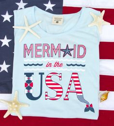 NOW AVAILABLE! Mermaid in the USA tank - Get yours in time for Spring Break! WWW.JADELYNNBROOKE.COM