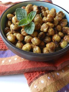 Chipotle Spiced Chick Peas.1 15 ounce can of Chick Peas  1 tsp of onion powder  1 tsp of garlic powder  1 tsp of cumin  1 tsp of dried oregano (strange I know with chipotle pepper, but it tasted good and gives it color)  1 tsp of chipotle pepper  1/4 tsp of salt, add more if you need it  1 1/2 Tbsp of olive oil