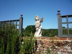 Musical cherub, Hunworth Hall Magical Gardens, Holiday Apartments, The Beautiful Country, Coastal Art, Cherub, Norfolk, Magnolia, Mount Rushmore, Garden Sculpture