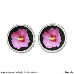 Shop Pink Hibiscus Cufflinks created by Personalize it with photos & text or purchase as is! Designer Cufflinks, Waterproof Coat, Silver Bullet, Hibiscus Flowers, Stylish Men, Studs, Pink, Rose