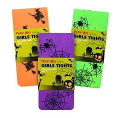 Halloween Tights Girls Size - Spider Web / Witches - Halloween Fancy Dress - Halloween #Poundlandhalloween