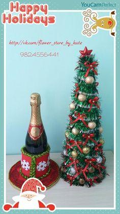 Фотография Christmas Decorations, Christmas Ornaments, Holiday Decor, Christmas Trees, Flowers, Christmas Topiary, How To Make Crafts, Xmas, Crafts