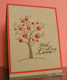 What a pretty card. I'd prefer a white background, though