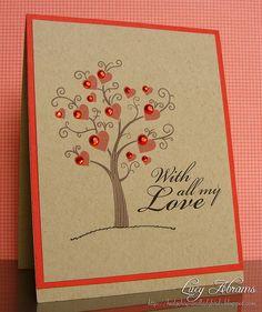 What a pretty card. I'd prefer a white background, though