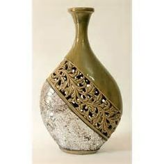 Image Detail for - ... collection, Mantle Pieces, Craft Mantra, Green Ceramic carved vase