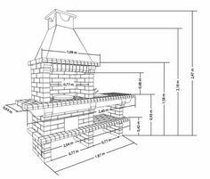Размеры кирпичного барбекю Outdoor Cooking Area, Brick Bbq, Line Chart, Diagram, Kitchen, Brick Built Bbq, Cooking, Kitchens, Cuisine