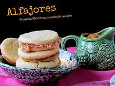 Alfajores: Peruvian Shortbread Sandwich Cookies.