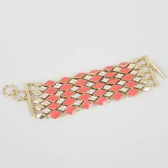 1920's Enamel & Crystal Bracelet