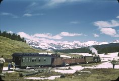 Rocky Mountain Railroad Special at Lizard Head Pass in May 1949