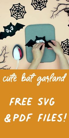 You can make this cute DIY Halloween Bat Garland with these FREE SVG files and tutorial! #freesvg #cricutcreated #cricutmade #halloweendecor
