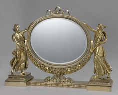 Toilet mirror, Joseph-Germain Dutalis, Louis Royer, 1828 - 1829 - This mirror was the showpiece of an extensive toilet service that the Dutch king William I ordered as a wedding gift for his daughter, Princess Marianne, who married Prince Albert of Prussia in 1830. For this magnificent commission in the French Empire style, the King engaged Dutalis, the leading Brussels goldsmith.