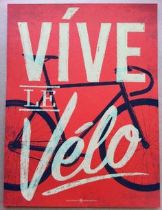 Vive le Velo 2011 Bicycle Art Print by kollectivefusion on Etsy #cycling