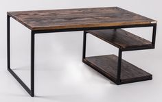 ZigZag Coffee Table  steel and wood by SparkCraftWorkshop on Etsy