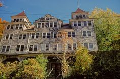 Empire Hotel, Sharon Springs, NY. Sharon Springs began as a spa town, famed for it's mineral springs. It became one of the great Adirondack Mountains resort towns in the 1960's through the 1980's. There are several beautiful abandoned hotels & resorts there.