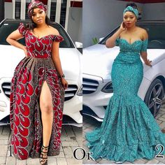 """African Trendy Styles 🇳🇬🇬🇧 on Instagram: """"Beautiful Ankara maxi dresss 👌🏽💚 @km.xxy killed both look.. which one do you prefer guys 1 or 2?? : : : : : : : : : : : : : : : : : : : : :…"""""""