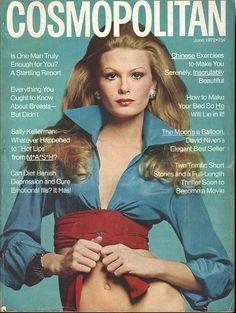 Cosmopolitan magazine, JUNE 1972 Model: Denise Hopkins